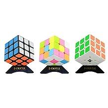 D-FantiX YJ GuanLong Speed Cube 3x3 Puzzle Cube Bundle Pack of 3