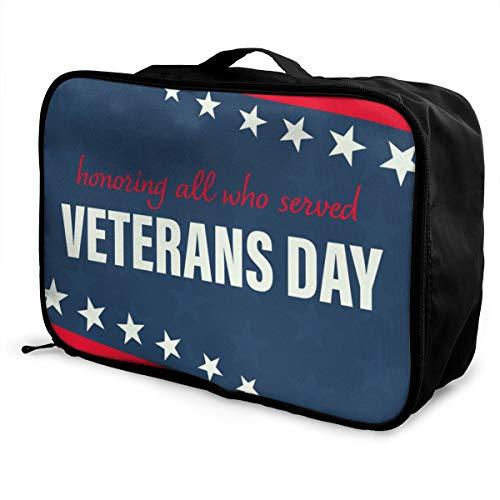 Veterans Day Lightweight Large Capacity Portable Luggage Bag Fashion Travel Duffel Bag