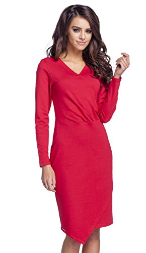Lemoniade trendiges Kleid mit langen Ärmeln und kurzem Rock Modell 4 ...