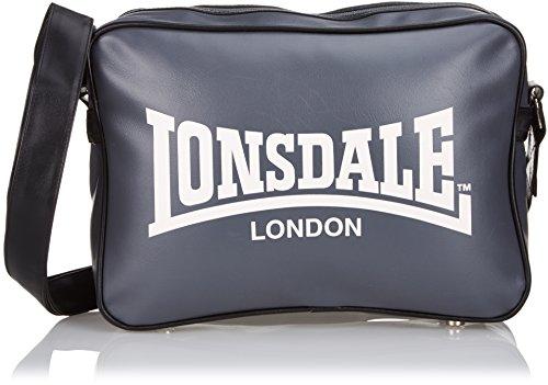 Lonsdale Trend - Bolso de mano para hombre Gris/Negro