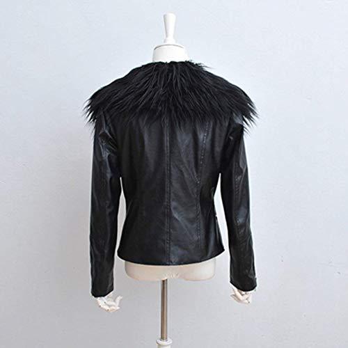 Cuir Taille Blouson en Cuir Veste Synth Fashion Grande Femme xS0ggqwvC