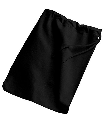 Sets of BagzDepot 100% Cotton Drawstring Shoe Bags with Matching Color Drawstring Closure - 15.75''H x 11''W - SBG10 - Drawstring Bags (Pack of 24, Black) by BagzDepot