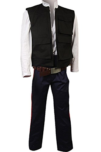 [Allten Men's Cosplay Costume Star Wars ANH A New Hope Han Solo XXXL] (Han Solo Adult Costumes)