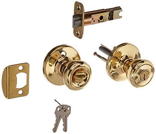 Kwikset 400T 3 RCAL RCS 94002-078 Tylo Keyed Entry Knob, Polished Brass by Kwikset ()