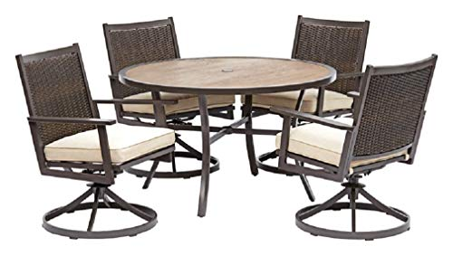 Living Accents S5-afe05501 Baystone Dining Patio Set, 5 Pieces