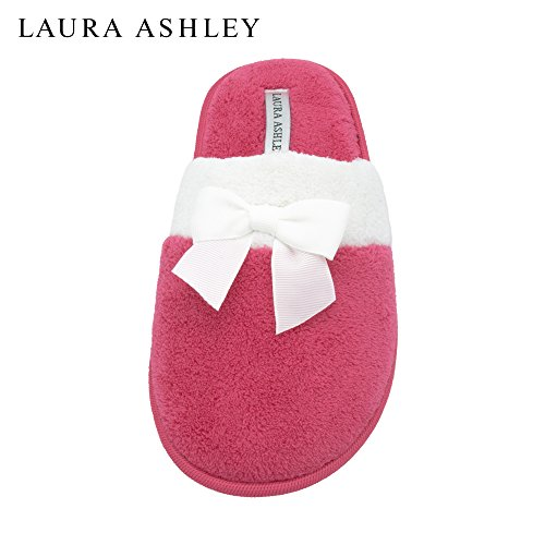 More Laura With Ashley Azalea amp; Terry Colors See Sizes Bow Ladies Slipper Scuff wwT6rx