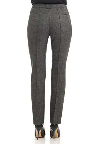 Rekucci Collection Women's Stretch Wool Tailored Pants (16,Grey Glencheck) by Rekucci (Image #2)
