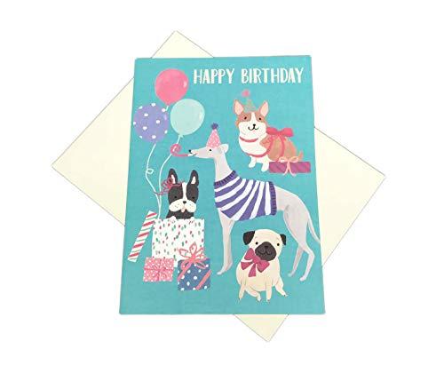 Happy Birthday Festive Party Dogs Pug Corgi Grey Hound Boxer 5