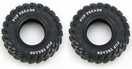 (2 Pack) Pup Treads Tire Dog Toy, 6-Inch (Treads Pup Rubber)