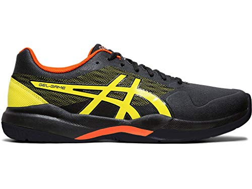 ASICS Men's Gel-Game 7 Tennis Shoes, 9.5M, Black/Sour Yuzu