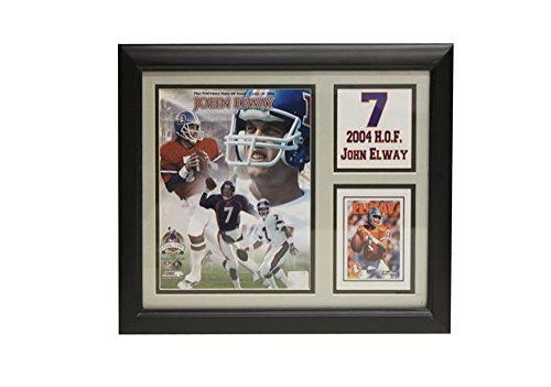 "Encore Select 141-15 NFL Denver Broncos Deluxe Stat Frame John Elway ""2004 Hall of Fame"" Print, 11-Inch by 14-Inch"