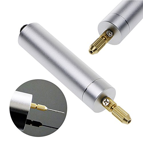 DIY Mini Micro Electric Aluminum Hand Drill Brass Collets Woodworking Motor Drilling Model Tool