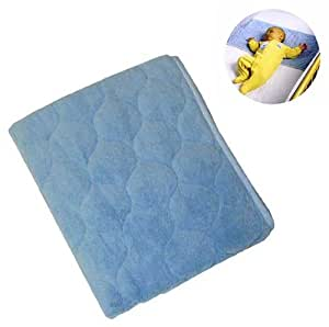 Amazon Com Nojo Coral Fleece Sheet Saver Blue Crib