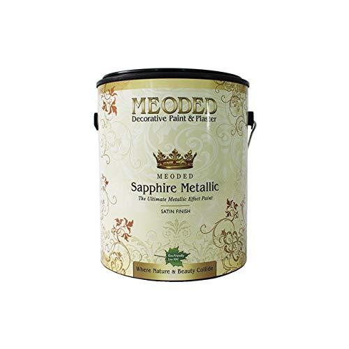 (Meoded Paint and Plaster | Sapphire Metallic Paint | SM 5500 Shimmer Bronze Metallic Wall Paint | Metal Paint | 1 Gallon)
