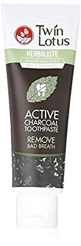 Active Charcoal Toothpaste Herbaliste Triple Action -TWIN LOTUS HERBALISTE, 100 g.