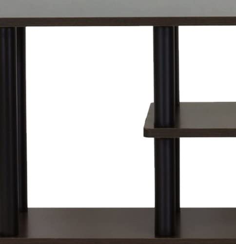 home, kitchen, furniture, living room furniture, tv, media furniture,  television stands, entertainment centers 4 picture Furinno Turn-N-Tube 3-Tier Entertainment TV deals