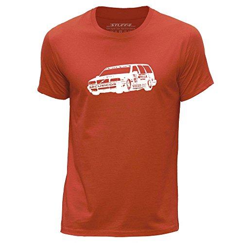 Stuff4® Men's XXX Large (3XL) Orange Round Neck T-Shirt/Stencil Car Art/850 TWR BTCC ()