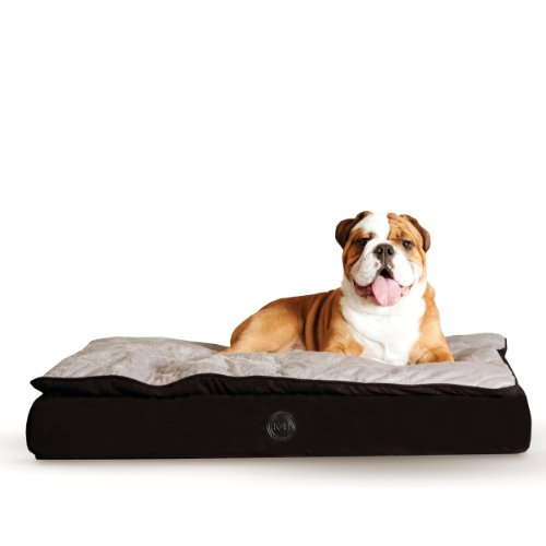 K&H Pet Products Feather-Top Ortho Pet Bed Large Charcoal/Gray 40'' x 50'' by K&H Pet Products