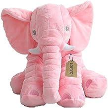 Big Stuffed Elephant Plush Doll, Baby Super Soft Elephants Toys Pink