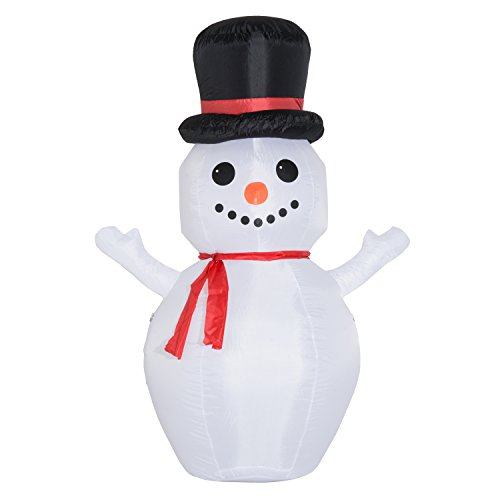Outdoor Lighted Snowman Head - 1