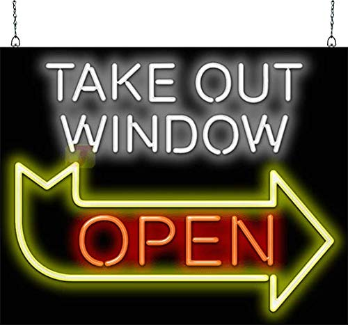 (Take Out Window Open Neon Sign)
