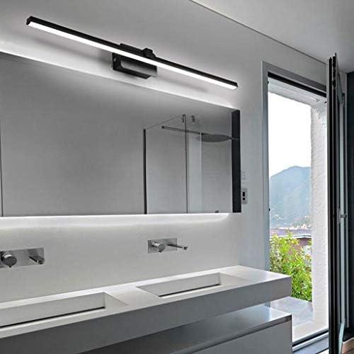 . Espejo LED Faro Cuarto de baño WC moderna simplicidad impermeable y anti-niebla de maquillaje Vestir la lámpara de pared de la lámpara (Color : Warm light)