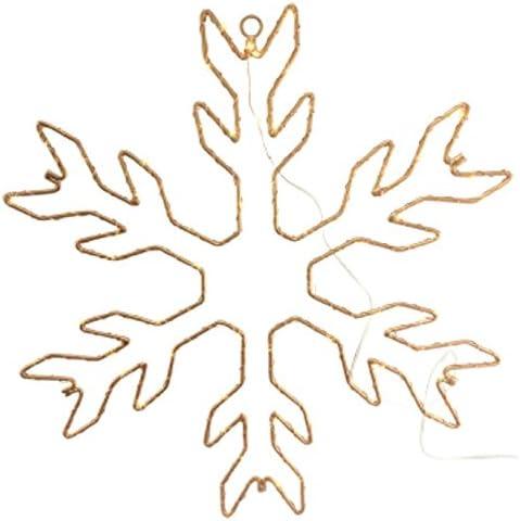 Manteau dhiver d/écorations de f/ête du Nouvel an 3 Pi/èces Banni/ère de Flocon de Neige de No/ël Scintillant Guirlande de Flocon de Neige dhiver pour d/écor de f/ête sur Le th/ème des Vacances de No/ël