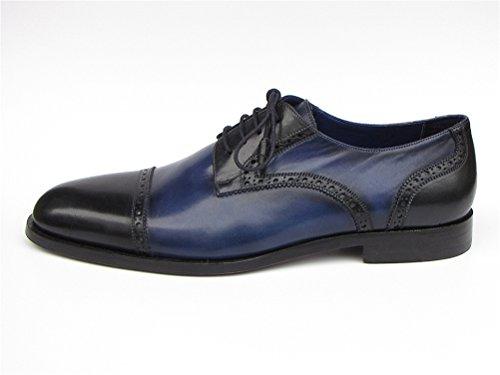 Paul PARKMAN ID Parlament Sohle 046 blau Schuhe und Obermaterial Derby Herren Leder vvwZqr
