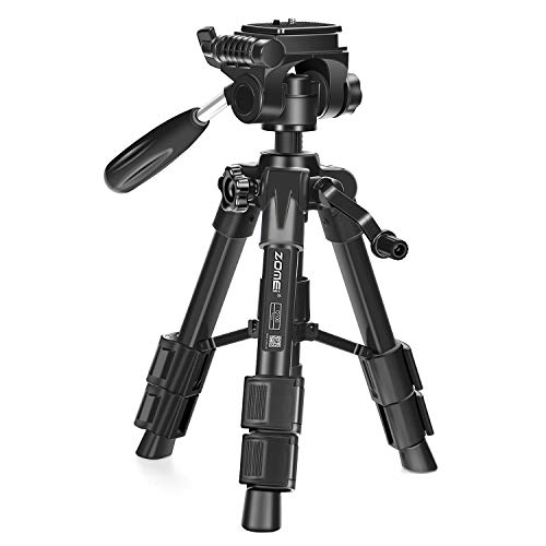 Digital Camera Holder - ZOMEI Q-100 Tabletop Tripod 12.5inch Lightweight Aluminum Small Travel Tripod with 360° Rotating Pan Head for Camera Cellphone Tablet and Projector
