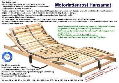 Hansamat Moteur Sommier /à Lattes sommier /à Lattes /électrique 100/x 200