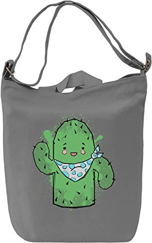 Mister Cactus Borsa Giornaliera Canvas Canvas Day Bag| 100% Premium Cotton Canvas| DTG Printing|