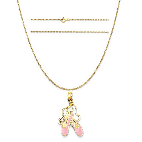 Enameled Ballet Slippers Charm - 5