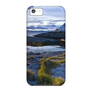 Tpu Case Cover For Iphone 5c Strong Protect Case - Tranoy Lighthouse Norway Design