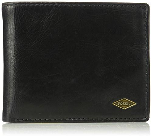 - Fossil Men's RFID Flip ID Bifold Wallet, Black, One Size