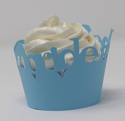All About Details Bride-to-be Cupcake Wrappers, Set of 12 (Light Blue) by All About Details