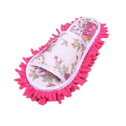 Slippers Pink Mop Socks Bedroom XILALU Microfiber Hot House Slippers Shoes Women Dust w4UBPq0
