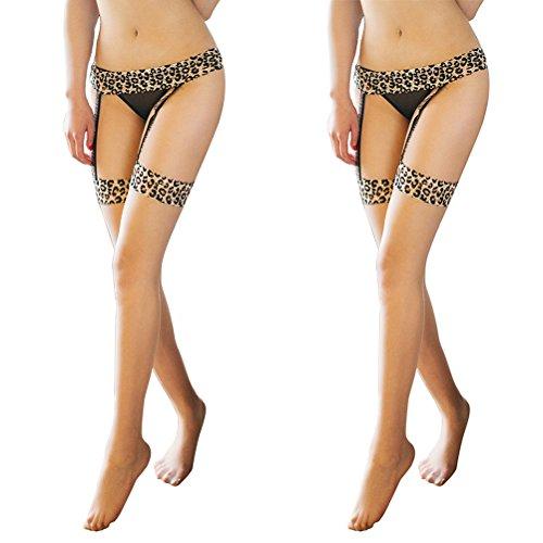 Garter Belts Stockings Compression Leopard product image