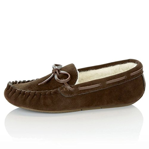 Moccasins Sandal DailyShoes Chocolate Women's Classic Fur Loafer Shoes Casual Vegan Flat wAZrE7A8q