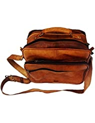 13 Genuine Leather Brown Messenger Passport Bag Messenger Bag Satchel Reporter Bag