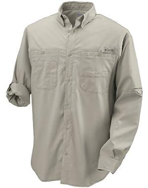 Men's Tamiami II Long Sleeve Woven Shirt, SAIL, Small