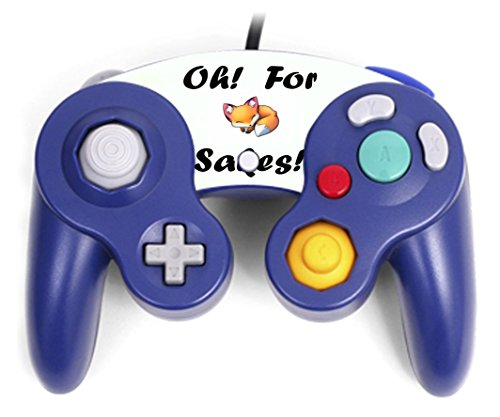 Oh For Fox Sake Funny Quote The Cutest Funniest Gift For Anyone Gamecube Controller Vinyl Decal Sticker Skin by Trendy Accessories