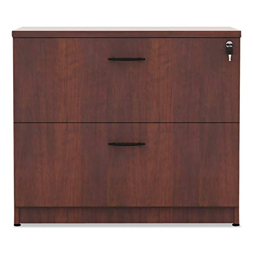 Alera VA513622MC Valencia Series 35-Inch by 22 by 29-1/2-Inch 2-Drawer Lateral File, Medium Cherry