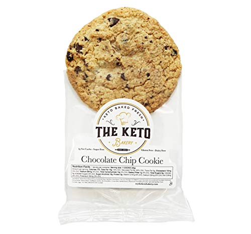 The Keto Bakery Chocolate Chip Cookies (12 pack) Keto cookies, Keto snacks, low carb, sugar free, dairy free, kosher, gluten free