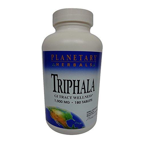 Planetary Herbals Triphala 1,000 mg 180 Tabs (Triphala Internal Cleanser)