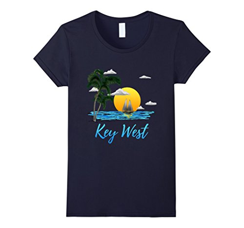 Womens Key West Florida Sailing T-Shirt Large - Women West Key