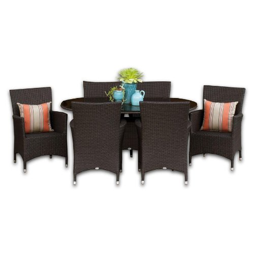 All-Weather Outdoor Wicker Malibu Dining Set