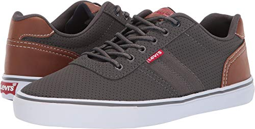 Levi's Mens Miles Preference PU NB Sneakers,Charcoa/Navy,11