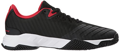 Silver Mens M Tennis 3 Black Matte Scarlet Shoe White Core White 5 12 Barricade Court Scarlet US adidas 8SWndqd