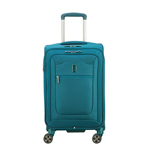 """Delsey Hyperglide 21"""" Expandable Spinner Carry-on, Teal Blue"""
