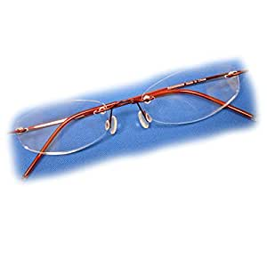 074560b797f4 bitterrootpubliclibrary.org +4 Diopter Eschenbach Rimless Reading Glasses -  Red Oval  Health